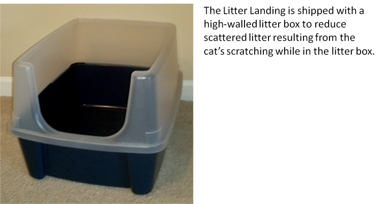 High-walled Litter Box Included