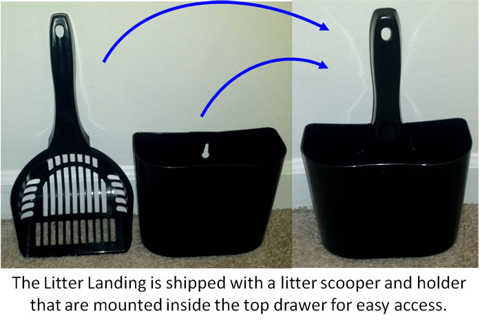 Litter Scooper and Holder Included
