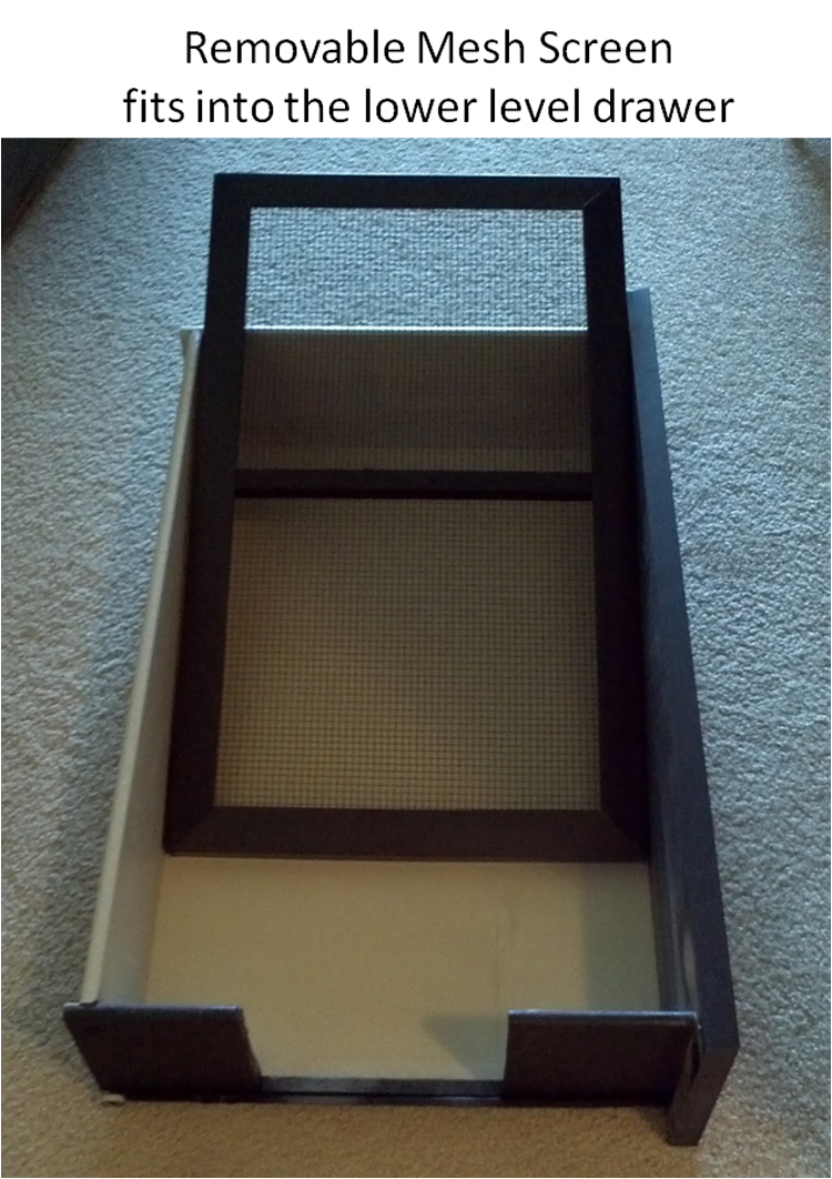 Litter Screen with Bottom Drawer
